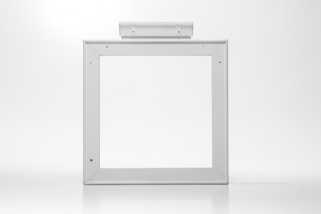 Ceiling suspended frame double-sided 15X15