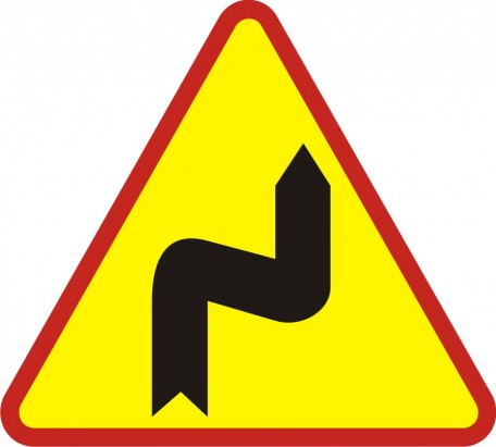Double bend- first to the right