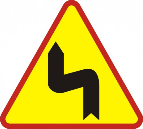 Double bend- first to the left