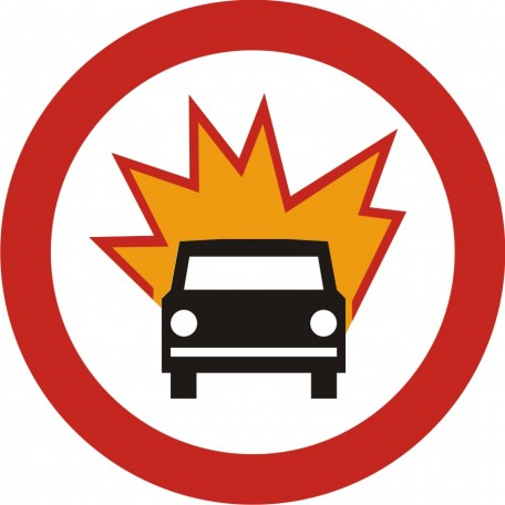 No vehicles with flammable and explosive materials