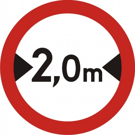 No vehicles of width more than... m