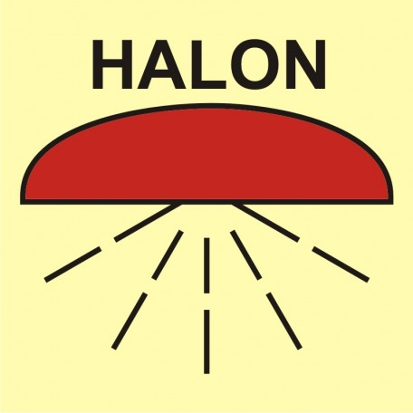 Space protected by halon 1301