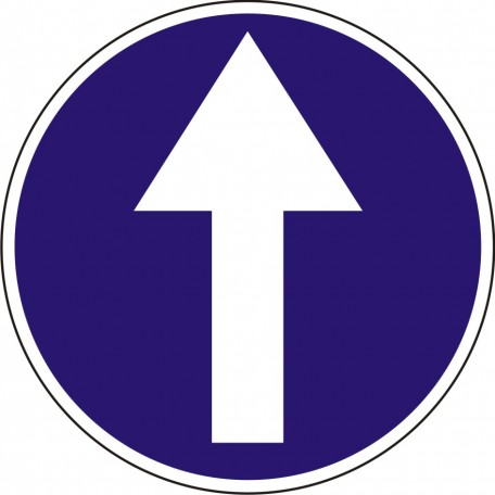 Proceed straight