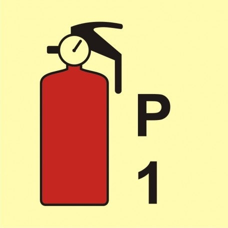 Powder fire extinguisher P1