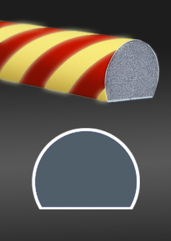 Photoluminescent protective profile red - yellow
