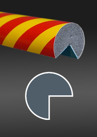 Warning protective profile red - yellow