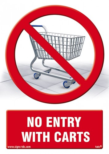 No entry with carts