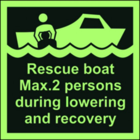 Rescue boat max.2 persons during lowering and recovery