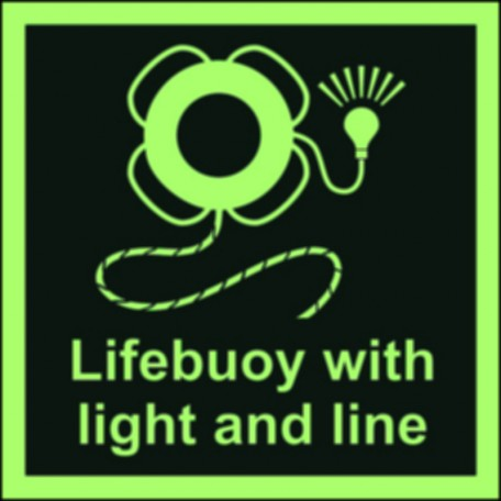 Lifebuoy with line and light