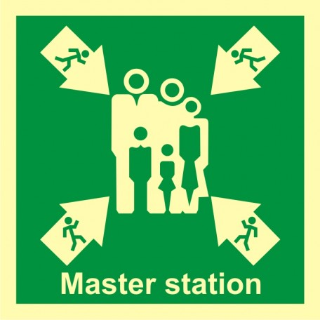 Evacuation assembly point - master station