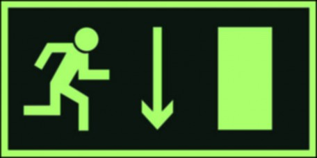 Direction to leave an escape route down