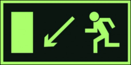 Direction to leave an escape route down the left