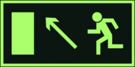 The direction to leave an escape route up to the left