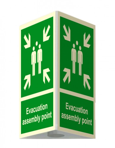 3D External assembly point sign – small- 25 x 31 cm