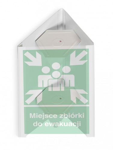 3D External assembly point sign – small- 25 x 25 cm