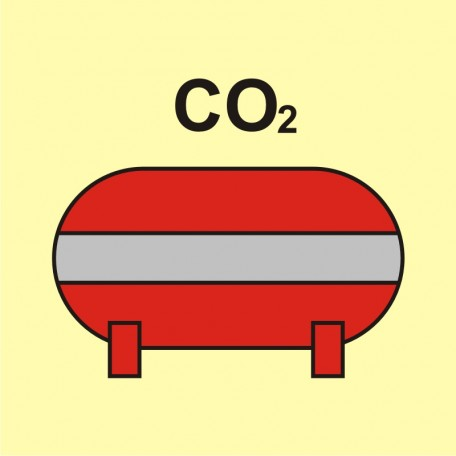 Fixed fire-extinguishing installation (CO2-carbon dioxide)