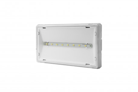 Luminaire EXIT S IP65 LED 1W 3h dual-purpose white