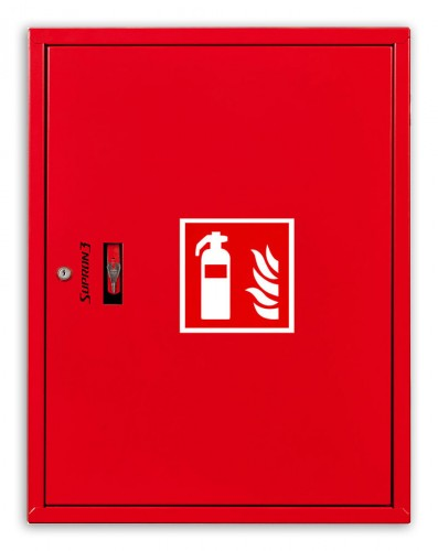 Fire extinguisher cabinet for 2x12kg or 2xGS-5x fire extinguishers