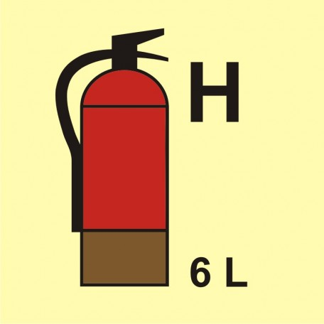Fire extinguisher (H-gas) 6L