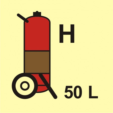 Wheeled fire extinguisher (H-gas) 50L
