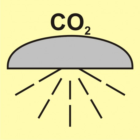 Space/group of spaces protected by fire-extinguishing system(CO2)