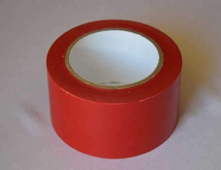 self-adhesive tape to the floor, length 33  red