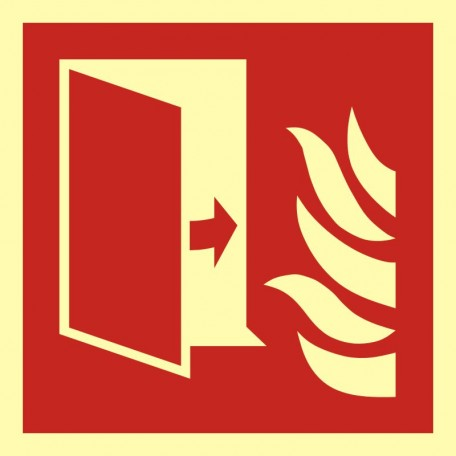 Fire protection door