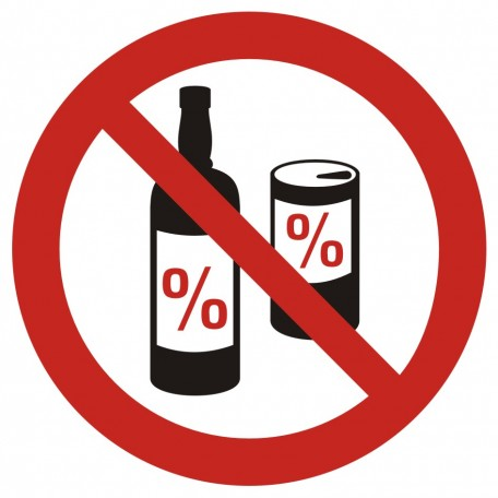No alcohol permitted