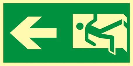 Direction of the escape route