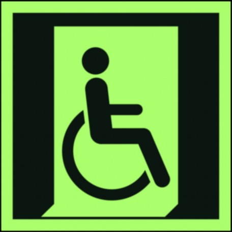 Emergency exit for people unable to walk or with walking impairment (right)