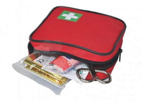 Square first aid kit